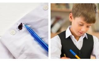 Как отстирать ручку и вывести пасту с одежды