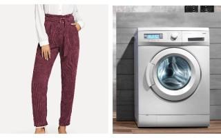 Как стирать вельвет в стиральной машинке и ручным способом, глажка