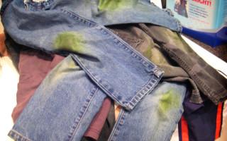 Как вывести пятно от травы с одежды, универсальные и индивидуальные способы в зависимости от ткани