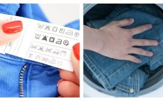 Как правильно стирать джинсы, при какой температуре и как чато