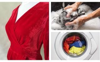 Как стирать вещи из бархата и платье, утюжка и уход