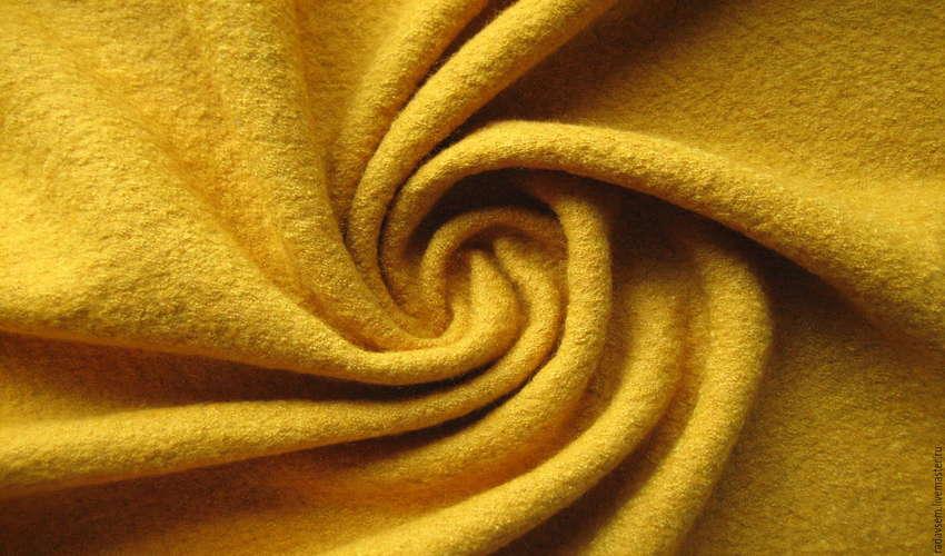 Ткань лоден вблизи