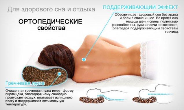 Описание пользы ортопедической подушки