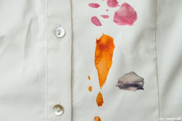 Рубашка в пятнах