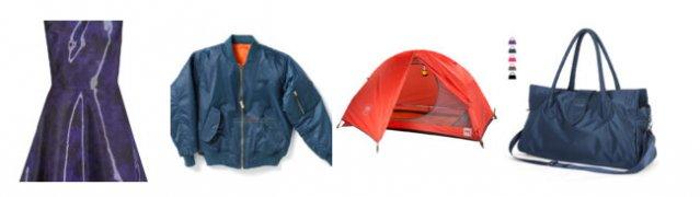 Палатка, платье, сумка, куртка