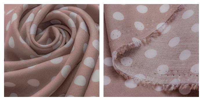 Ткань штапель в горошек