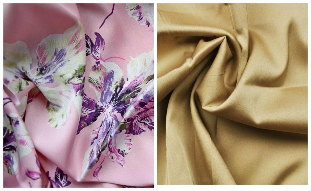 Ткань шелк армани, однотонный и принтовой