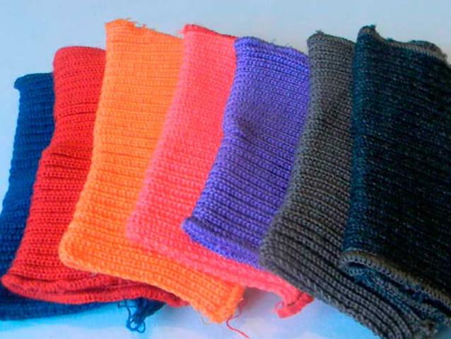 Образцы тканей разных цветов