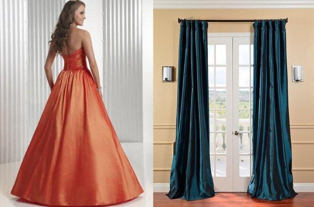 Платье и шторы из тафты