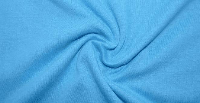 Ткань голубого цвета, однотонная