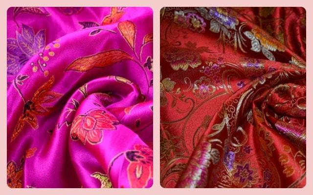 Искусственный шелк в двух цветах
