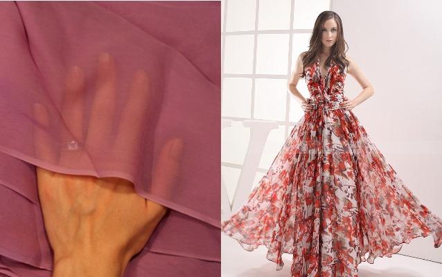 Ткань шифон и платье из нее