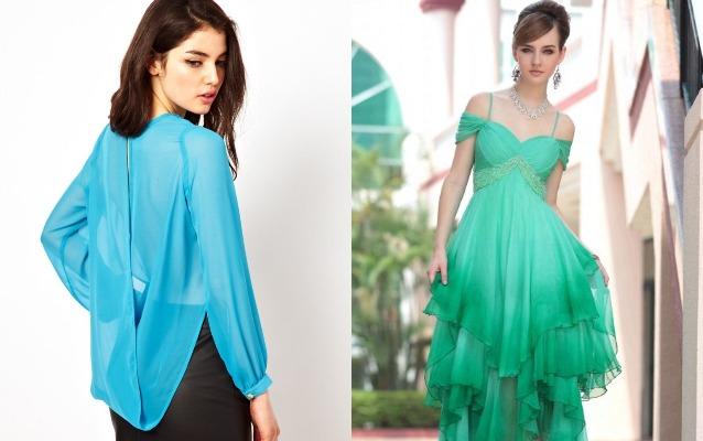 Девушка в блузке и в платье