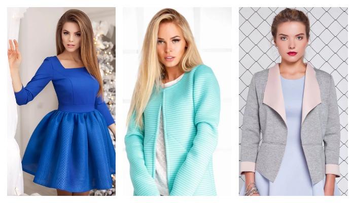 Изделия из неопрена: платье, кардиган, пиджак