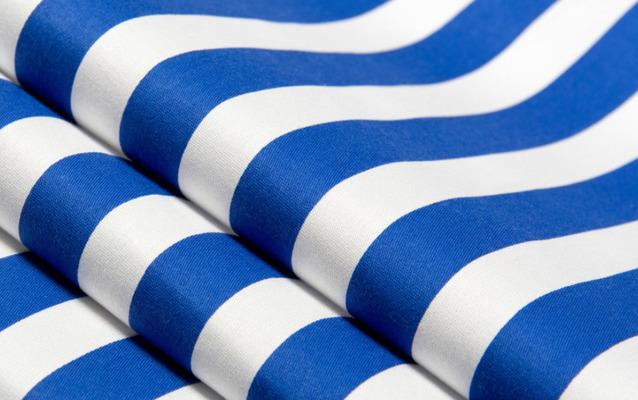 Ткань оксфорд в синею полоску