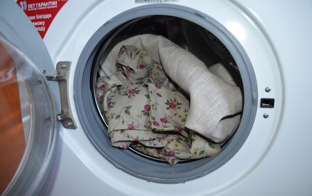 Машинка автомат с постельным бельем