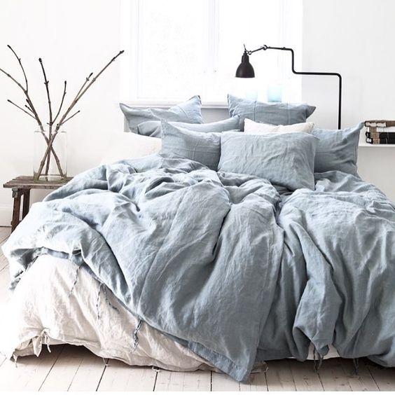 Мятое постельное белье