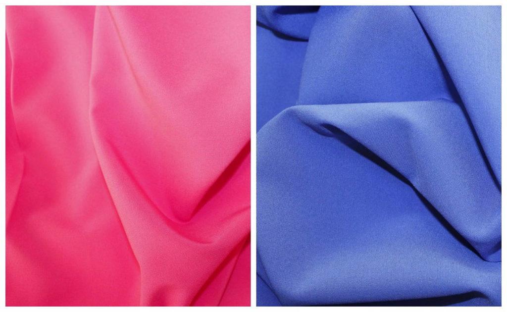 Ткань ниагара в розовом и голубом цвете