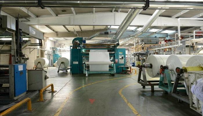 Фабрика, ткани