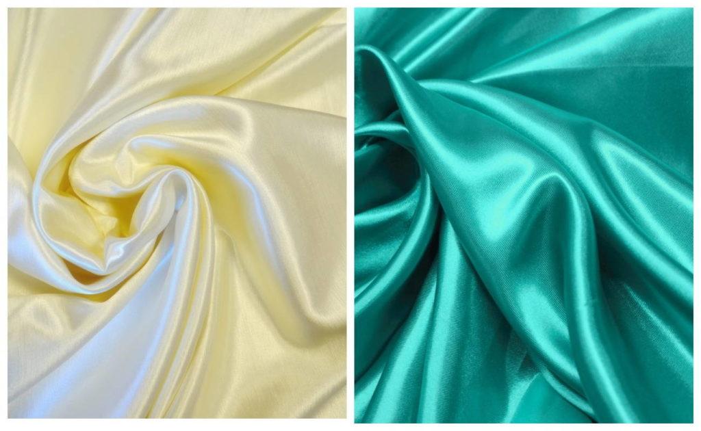 Ткань атлас в двух цветах