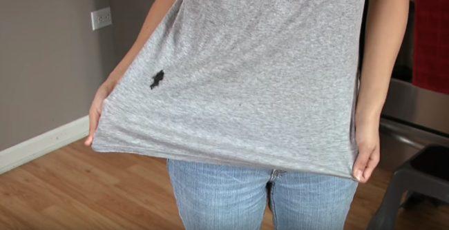 Пятно от фломастера на футболке