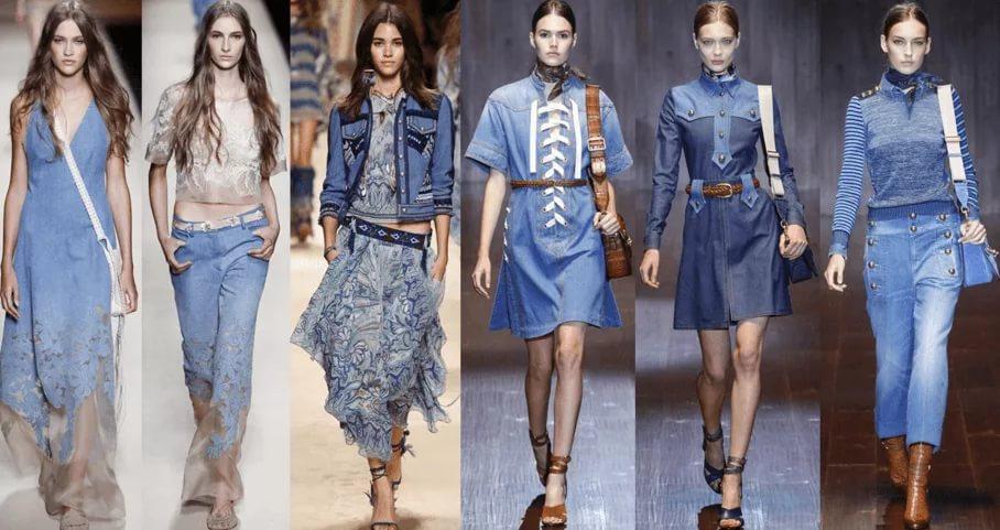 Модели в одежде из денима