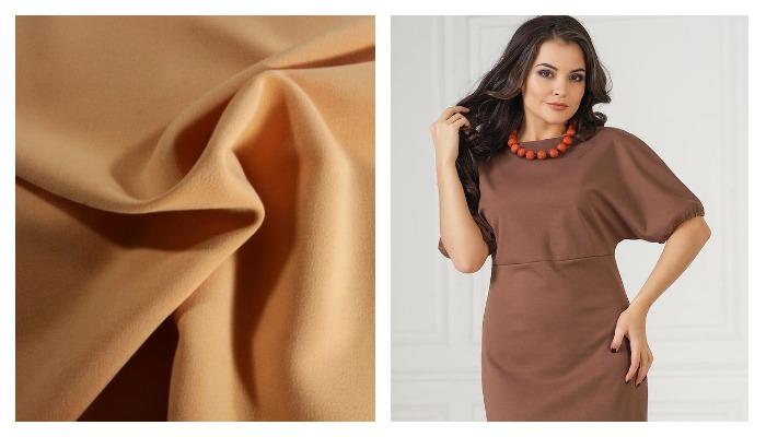 Платье из ткани милано