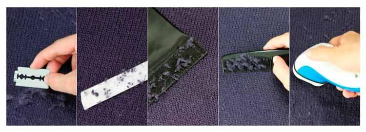 Способы избавления от катышков с одежды