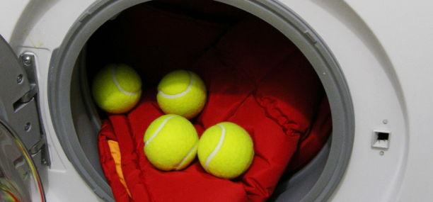 Тенисные мячи для стирки пуховика
