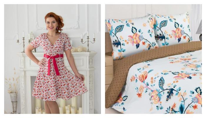 Платье и постельный комплект из ткани поплин