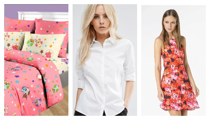 Постельное, сорочка, платье из ткани поплин