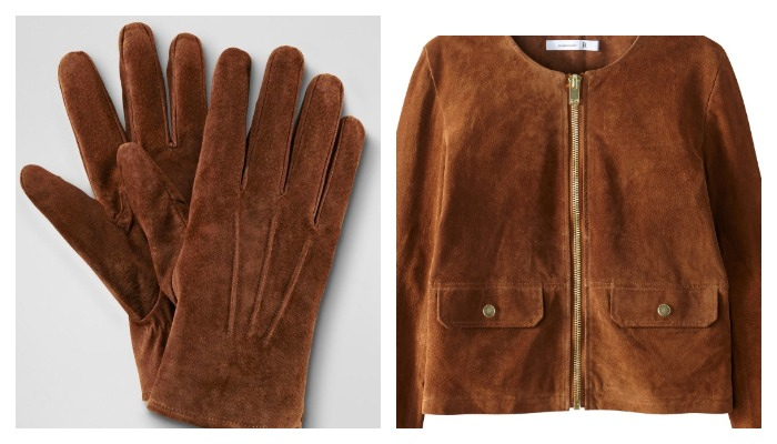 Кожаная куртка и перчатки