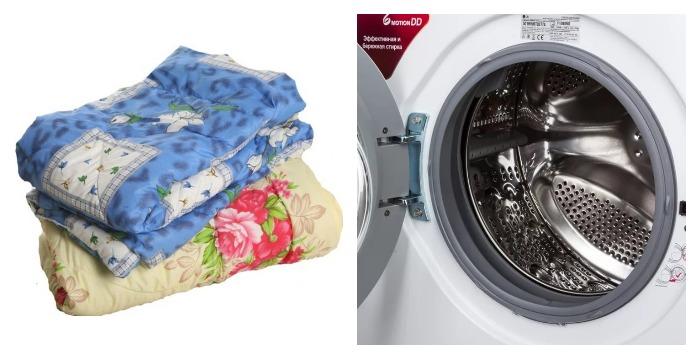 Одеяло и стиральная машина
