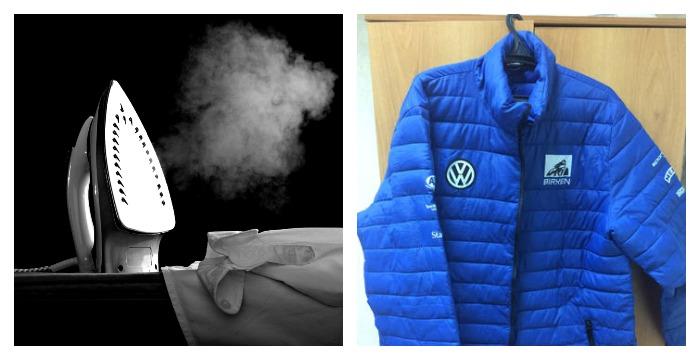 Утюг и куртка