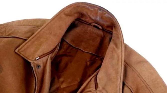 Засаленный воротник замшевой куртки