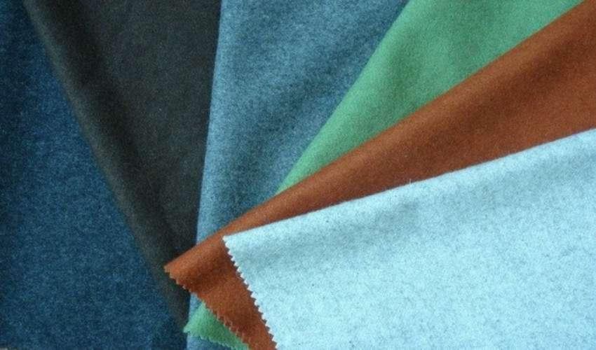 Виды цветов мольтоновой ткани