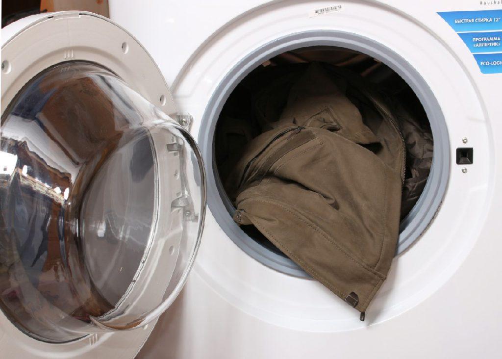 Замшевая куртка в стиральной машинке