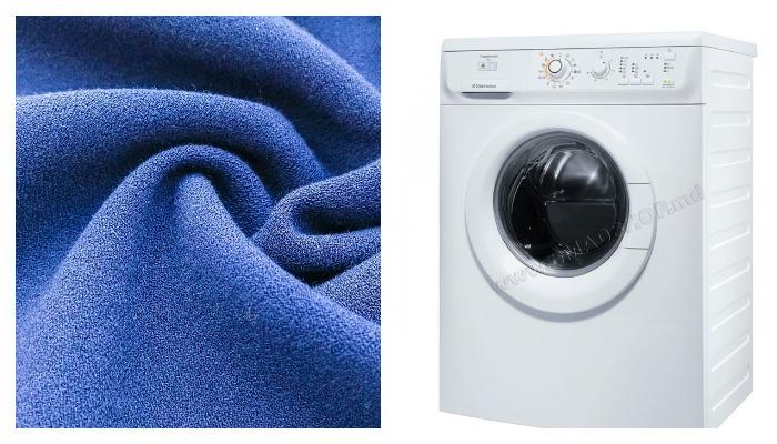 Ткань и стиральная машинка