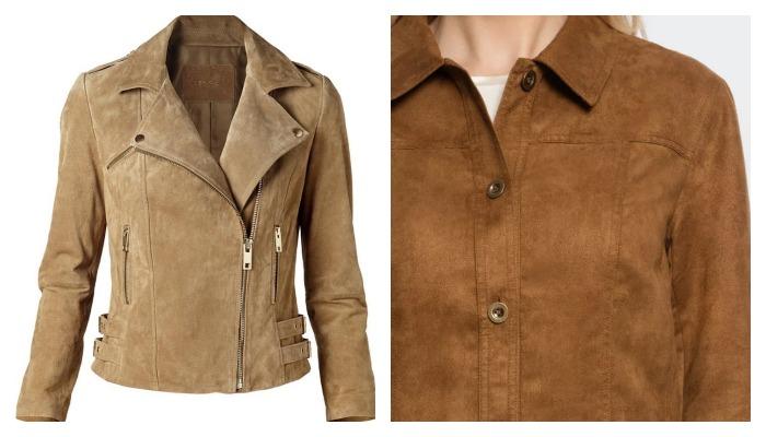 Светлые замшевые куртки