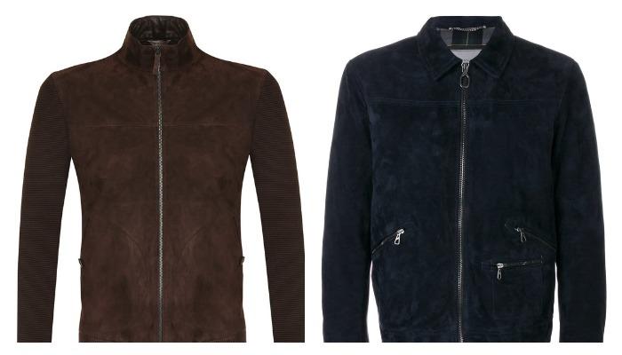 Замшевые куртки темных цветов