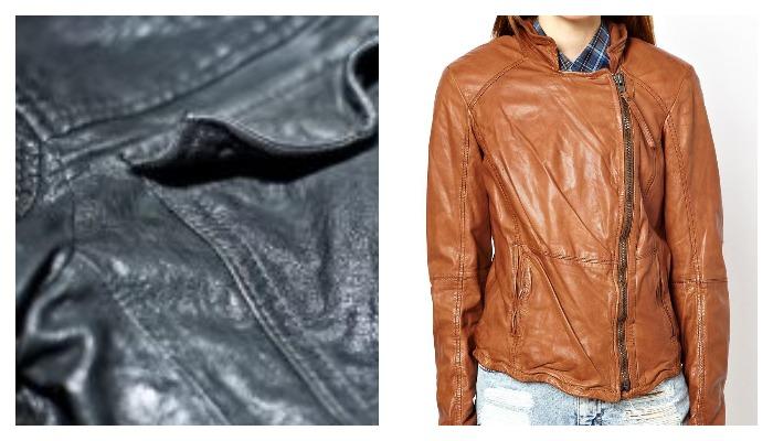 Мятая кожаная куртка