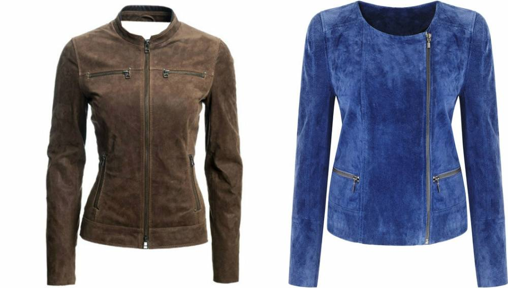 Куртки из искусственной замши