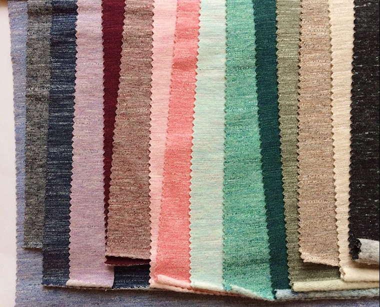 Образцы меланжевых тканей