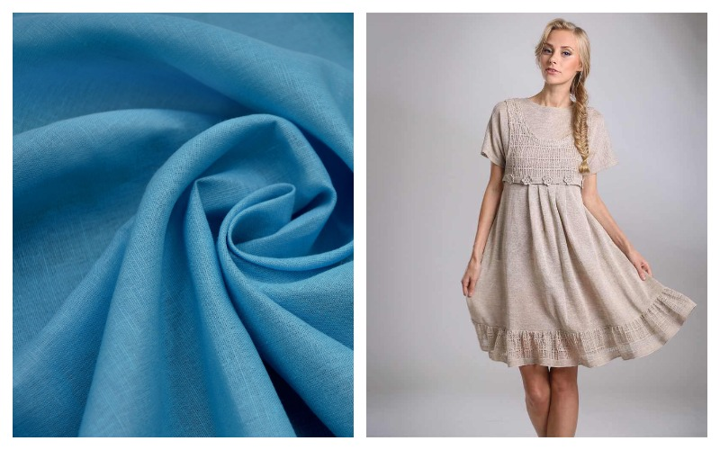 Платье из ткани лен