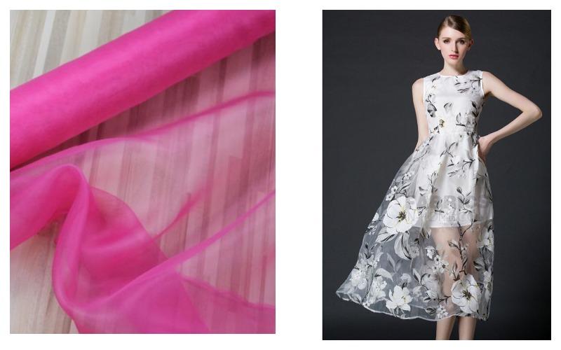 Платье из ткани органза