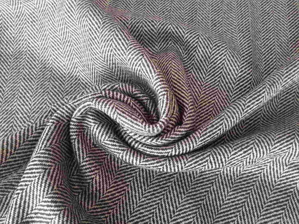 Ткань твид в елочку
