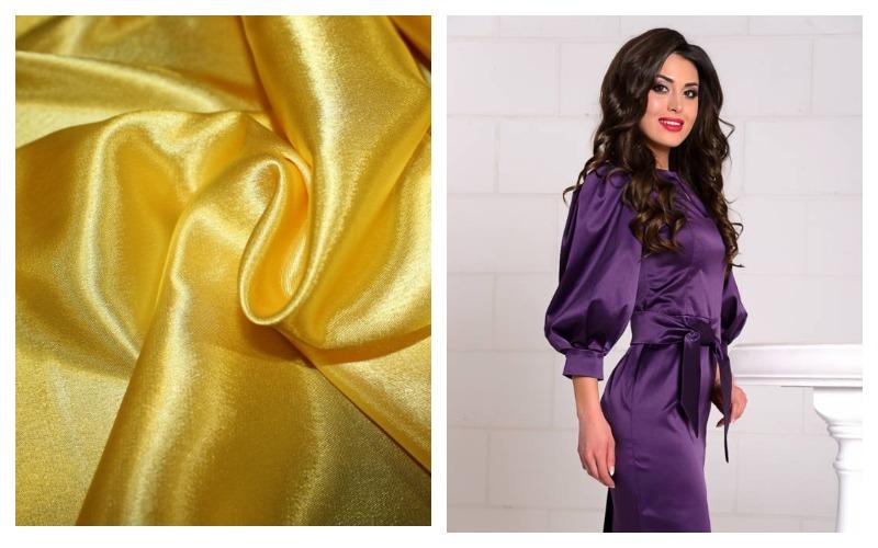 Платье из ткани креп сатин