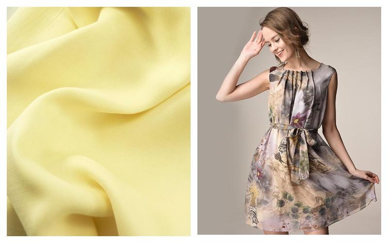 Платье из ткани шелк