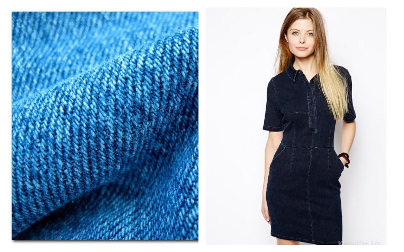 Ткань джинс и платье из него