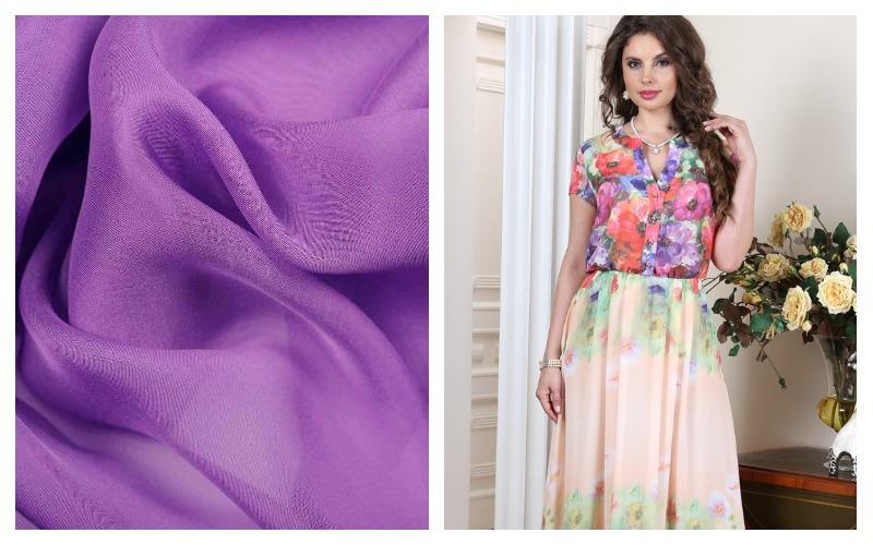 Ткань шифон и платье